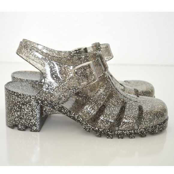 90632172304b ASOS Shoes - Truffle Collection Jelly Heeled Sandals Glitter